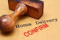 Home delivery - confirm - stock illustration