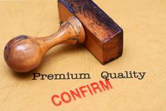Premium quality - confirm - stock illustration