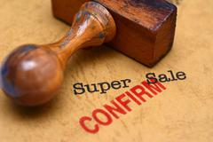 Super sale - confirm - stock illustration