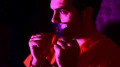 dangerous criminal serial killer - stock footage