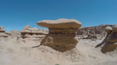 Timelapse flying through Goblin Valley State Park southern Utah Stock Footage