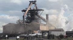Steel plant in north east England Stock Footage