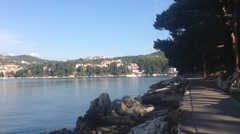 Pan from Cavtat in Croatia Stock Footage