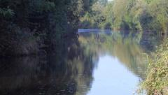 Wooded Riverbank - stock footage