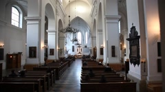Mass in Dominican Church of St. Jack Kosciol sw. Jacka Stock Footage