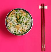 Hanoi pho chicken noodle soup - stock photo