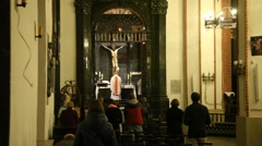 Mass in St. John's Archcathedral Stock Footage