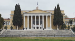 Zappeion, neoclassical building in Athens Stock Footage