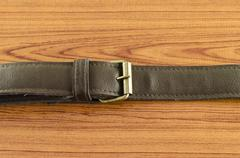 leather strap - stock photo