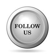 Stock Illustration of Follow us icon. Internet button on white background..