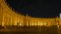 Piazza San Pietro. Vatican. Rome, Italy Stock Footage