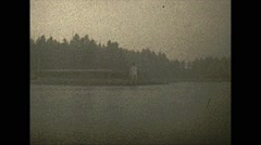 Vintage 16mm film, Vancouver harbour and steamship, 3-shot, 1932 Stock Footage