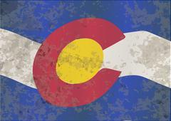 Colorado State Flag Stock Illustration