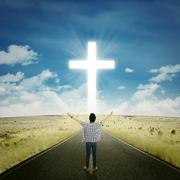 Man worshiping to the GOD - stock photo