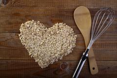 Oatcakes oatmeal and kitchen appliances - stock photo