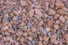 Crushed gravel texture on road Stock Photos