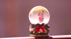 Snow Globe With Reindeer Stock Footage