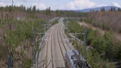Railroad details of branch with knobs soft focus background - stock footage