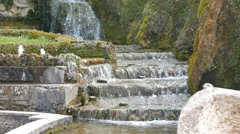 Fountain. Villa d'Este. Tivoli, Italy Stock Footage