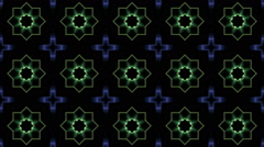 Flashing Kaleidoscope shapes Stock Footage