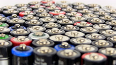 Batteries 4 Stock Footage