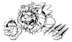 Lion claw breakthrough Stock Illustration