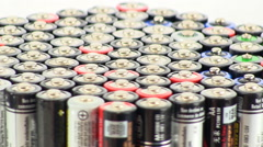Batteries 7 Stock Footage