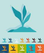 Flat design. root-crop Stock Illustration