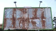 Ad blank billboard. 3353 Stock Footage