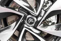 Citroen Sign On Wheel And Break Pad - stock photo