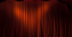 red stage curtain - stock footage
