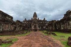 The ruins of Bakong Temple, Angkor Historical Park, Cambodia. Stock Photos