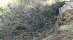 4k Rocky mountain abyss Pico do Arieiro in Madeira - stock footage