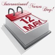 calendar.12 May. International Nurses Day. - stock illustration
