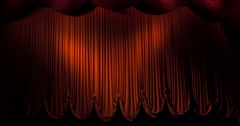 Red stage curtain Stock Footage