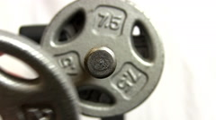 Changing barbell weights 2 Stock Footage