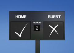Tick cross scoreboard Stock Illustration