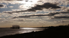 West Pier, Brighton, UK Stock Footage