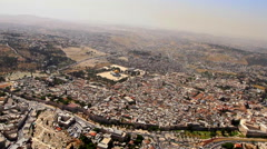 Aerial of the OLD CITY of JERUSALEM, ISRAEL Stock Footage