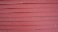 Snowy Barn Siding Stock Footage