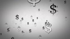 Dollar Symbols Silver Zoom Stock Footage