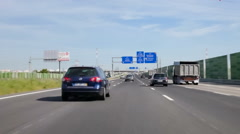 Driving through the A1 Highway from Lisbon to Oporto. Portugal Stock Footage