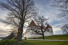 HDR image of the Bauska castle, Latvia - stock photo