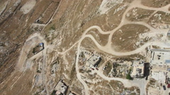 Aerial Mount of Olives Jerusalem, ISRAEL Stock Footage
