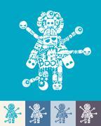 Voodoo Doll icon Stock Illustration