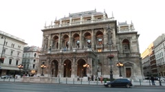 HUNGARY. BUDAPEST. JUNE 2011: Hungarian State Opera House Stock Footage