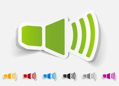 realistic design element. sound on - stock illustration