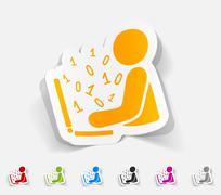 realistic design element. hacker - stock illustration