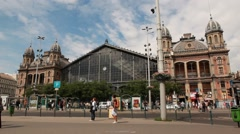 HUNGARY. BUDAPEST. JUNE 2011: Railway stations in Budapest Stock Footage