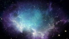 Cosmic Space & Stars Background Texture - Moving Particles 1080p HD - stock footage